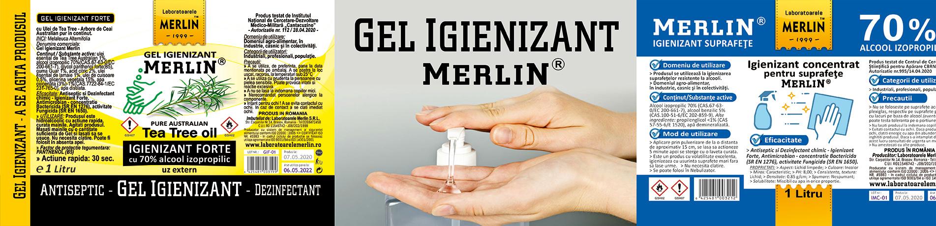 banner-GEL-IGIENIZANT-MAINI+IGIENIZANT-SUPRAFETE-70-alcool-Merlin